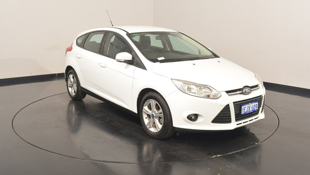 Used Ford Focus LW MKII Trend PwrShift, 2013 Ford Focus LW MKII Trend PwrShift White 6 Speed Sports Automatic Dual Clutch Hatchback