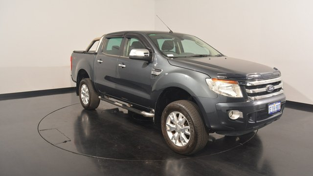 Used Ford Ranger PX XLT Double Cab, 2013 Ford Ranger PX XLT Double Cab Grey 6 Speed Manual Utility