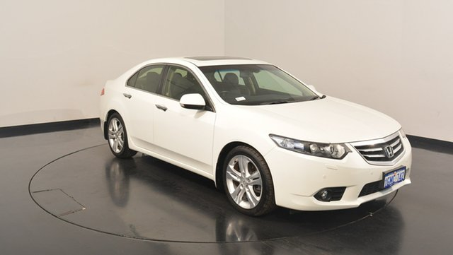 Used Honda Accord Euro CU MY13 Luxury, 2012 Honda Accord Euro CU MY13 Luxury White 5 Speed Automatic Sedan
