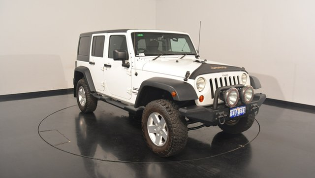 Used Jeep Wrangler JK MY2013 Unlimited Sport, 2013 Jeep Wrangler JK MY2013 Unlimited Sport Bright White 6 Speed Manual Softtop