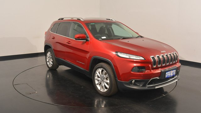 Used Jeep Cherokee KL MY15 Limited, 2015 Jeep Cherokee KL MY15 Limited Deep Cherry Red Pearl 9 Speed Sports Automatic Wagon