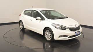 2014 Kia Cerato YD MY14 SI Clear White 6 Speed Sports Automatic Hatchback.