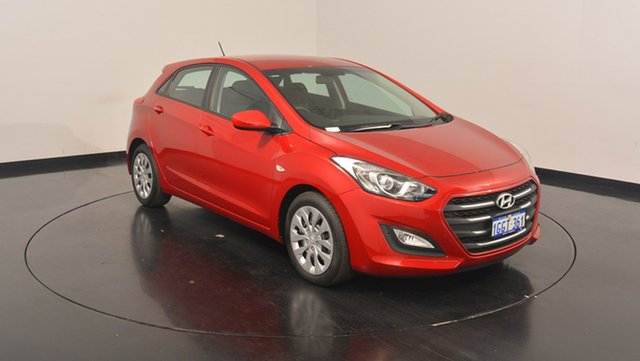 Used Hyundai i30  Active, 2017 Hyundai i30 GD4 Series II M Active Fiery Red 6 Speed Sports Automatic Hatchback
