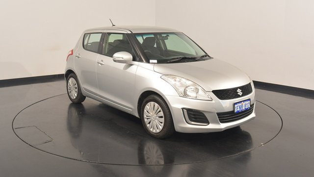 Used Suzuki Swift FZ MY14 GL, 2014 Suzuki Swift FZ MY14 GL Silver 4 Speed Automatic Hatchback