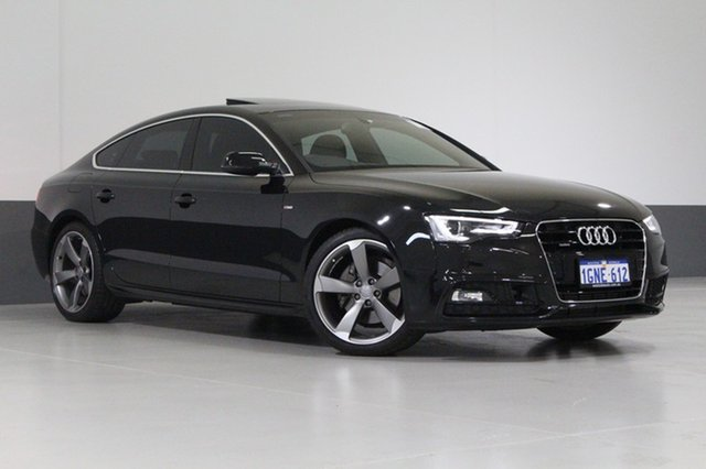 Used Audi A5 8T MY16 Sportback 2.0 TFSI Quattro, 2016 Audi A5 8T MY16 Sportback 2.0 TFSI Quattro Black 7 Speed Auto Direct Shift Hatchback