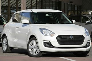 2017 Suzuki Swift AZ GL Navigator Safety Pack Pure White 1 Speed Constant Variable Hatchback.