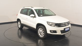 2014 Volkswagen Tiguan 5N MY15 132TSI DSG 4MOTION Pure White 7 Speed Sports Automatic Dual Clutch.