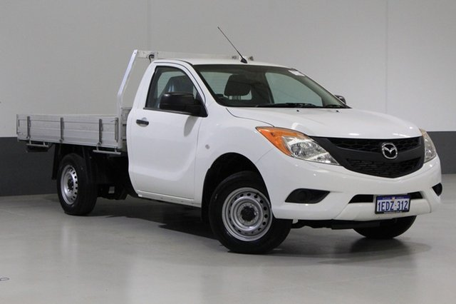 Used Mazda BT-50  XT (4x2), 2013 Mazda BT-50 XT (4x2) White 6 Speed Manual Cab Chassis