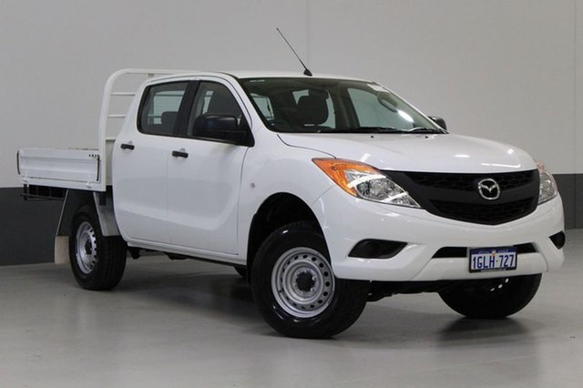 Used Mazda BT-50 MY13 XT (4x4), 2014 Mazda BT-50 MY13 XT (4x4) White 6 Speed Manual Dual Cab Chassis