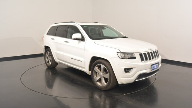 Used Jeep Grand Cherokee WK MY15 Overland, 2015 Jeep Grand Cherokee WK MY15 Overland Bright White 8 Speed Sports Automatic Wagon