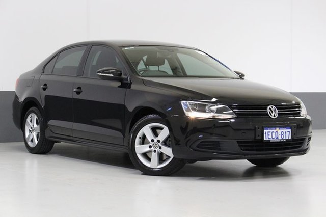Used Volkswagen Jetta 1KM MY13.5 118 TSI Comfortline, 2013 Volkswagen Jetta 1KM MY13.5 118 TSI Comfortline Black 7 Speed Auto Direct Shift Sedan