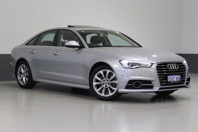 Used Audi A6 4GL MY16 1.8 TFSI, 2016 Audi A6 4GL MY16 1.8 TFSI Silver 7 Speed Auto Dual Clutch Sedan
