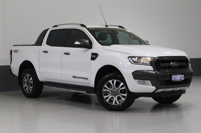 Used Ford Ranger PX Mkii MY17 Wildtrak 3.2 (4x4), 2016 Ford Ranger PX Mkii MY17 Wildtrak 3.2 (4x4) White 6 Speed Automatic Dual Cab Pick-up