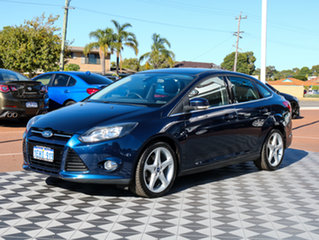 2011 Ford Focus LW Titanium PwrShift Blue 6 Speed Sports Automatic Dual Clutch Sedan.
