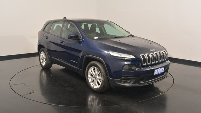 Used Jeep Cherokee KL MY15 Sport, 2014 Jeep Cherokee KL MY15 Sport Blue 9 Speed Sports Automatic Wagon