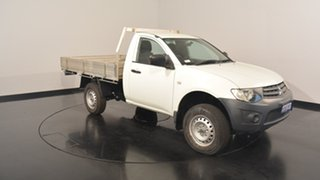2012 Mitsubishi Triton MN MY13 GL White 5 Speed Manual Cab Chassis