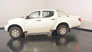 2012 Mitsubishi Triton MN MY13 GL-R Double Cab White 4 Speed Sports Automatic Utility.