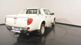 2012 Mitsubishi Triton MN MY13 GL-R Double Cab White 4 Speed Sports Automatic Utility