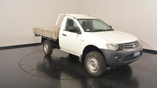 2012 Mitsubishi Triton MN MY13 GL White 5 Speed Manual Cab Chassis.