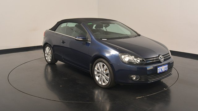 Used Volkswagen Golf VI MY12 118TSI DSG, 2012 Volkswagen Golf VI MY12 118TSI DSG Blue 7 Speed Sports Automatic Dual Clutch Cabriolet