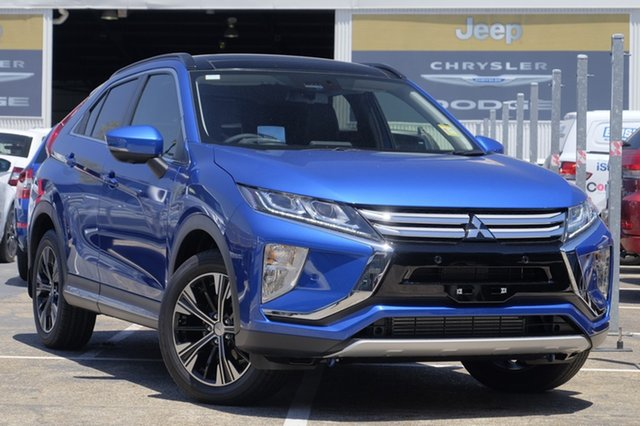 New Mitsubishi Eclipse Cross YA MY18 Exceed AWD, 2017 Mitsubishi Eclipse Cross YA MY18 Exceed AWD Lightning Blue 8 Speed Constant Variable Wagon