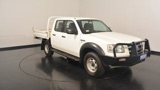 2008 Ford Ranger PJ XL Crew Cab Hi-Rider White 5 Speed Manual Utility.