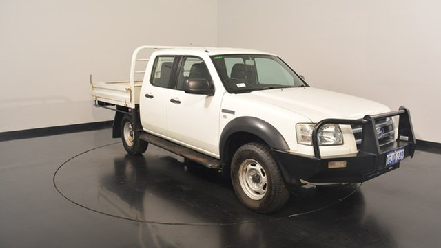 Used Ford Ranger PJ XL Crew Cab Hi-Rider, 2008 Ford Ranger PJ XL Crew Cab Hi-Rider White 5 Speed Manual Utility