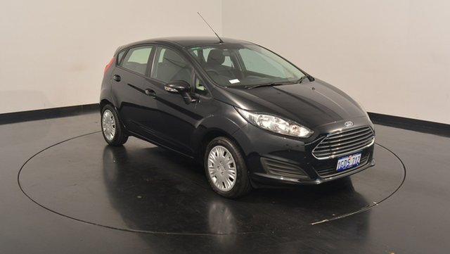 Used Ford Fiesta WZ Ambiente, 2016 Ford Fiesta WZ Ambiente Panther Black 5 Speed Manual Hatchback