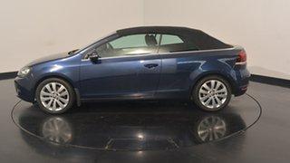 2012 Volkswagen Golf VI MY12 118TSI DSG Blue 7 Speed Sports Automatic Dual Clutch Cabriolet.