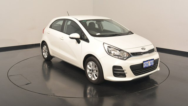Used Kia Rio UB MY15 S, 2015 Kia Rio UB MY15 S White 6 Speed Manual Hatchback