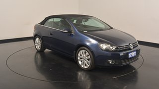 2012 Volkswagen Golf VI MY12 118TSI DSG Blue 7 Speed Sports Automatic Dual Clutch Cabriolet