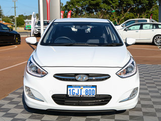 2017 Hyundai Accent RB4 MY17 SR White 6 Speed Sports Automatic Hatchback.