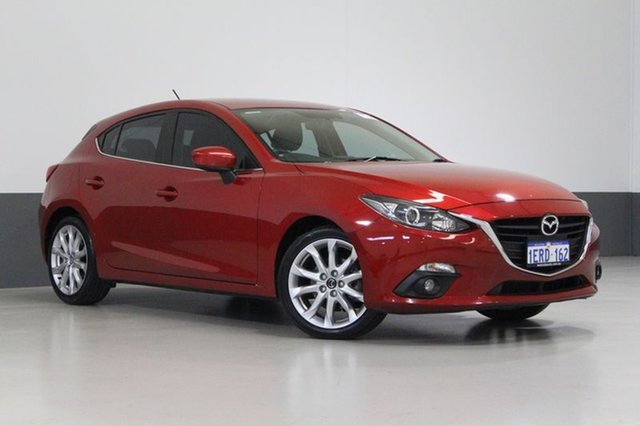 Used Mazda 3 BM MY15 SP25, 2015 Mazda 3 BM MY15 SP25 Soul Red 6 Speed Manual Hatchback