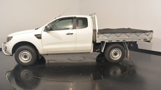 2014 Ford Ranger PX XL Super Cab 4x2 Hi-Rider White 6 Speed Sports Automatic Cab Chassis.