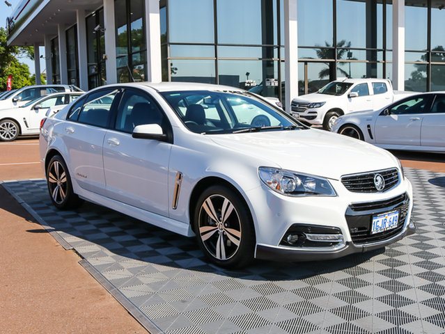 Used Holden Commodore VF MY14 SS Storm, 2014 Holden Commodore VF MY14 SS Storm White 6 Speed Sports Automatic Sedan