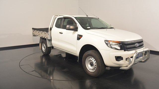 Used Ford Ranger PX XL Super Cab 4x2 Hi-Rider, 2014 Ford Ranger PX XL Super Cab 4x2 Hi-Rider White 6 Speed Sports Automatic Cab Chassis