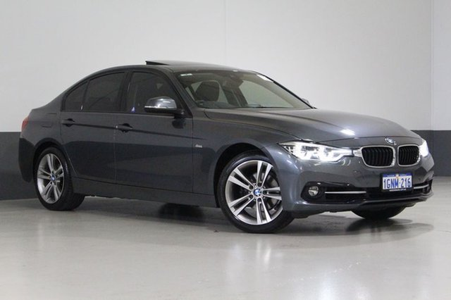Used BMW 318I F30 LCI Sport Line, 2016 BMW 318I F30 LCI Sport Line Grey 8 Speed Automatic Sedan