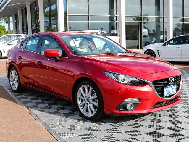 Used Mazda 3 BM5238 SP25 SKYACTIV-Drive GT, 2013 Mazda 3 BM5238 SP25 SKYACTIV-Drive GT Red 6 Speed Sports Automatic Sedan
