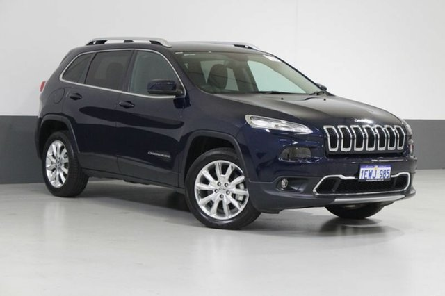 Used Jeep Cherokee KL MY15 Limited (4x4), 2015 Jeep Cherokee KL MY15 Limited (4x4) Blue 9 Speed Automatic Wagon
