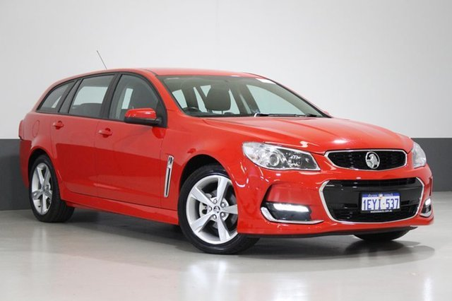 Used Holden Commodore VF II SV6, 2016 Holden Commodore VF II SV6 Red 6 Speed Automatic Sportswagon