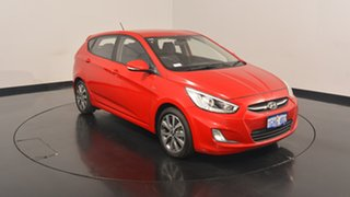 2017 Hyundai Accent RB4 MY17 SR Veloster Red 6 Speed Sports Automatic Hatchback.