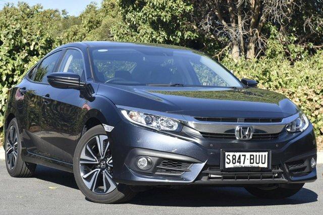 Used Honda Civic 10th Gen MY17 VTi-L, 2017 Honda Civic 10th Gen MY17 VTi-L Cosmic Blue 1 Speed Constant Variable Sedan