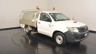 2014 Toyota Hilux KUN16R MY14 Workmate 4x2 White 5 Speed Manual Cab Chassis