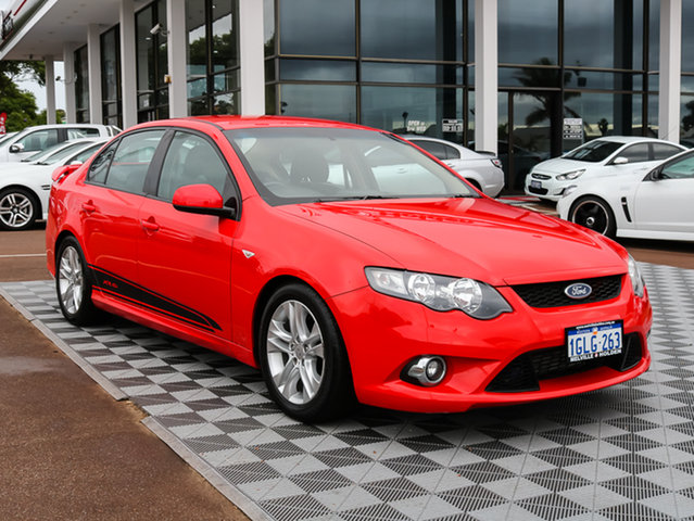Used Ford Falcon FG XR6 Turbo, 2011 Ford Falcon FG XR6 Turbo Red 6 Speed Sports Automatic Sedan