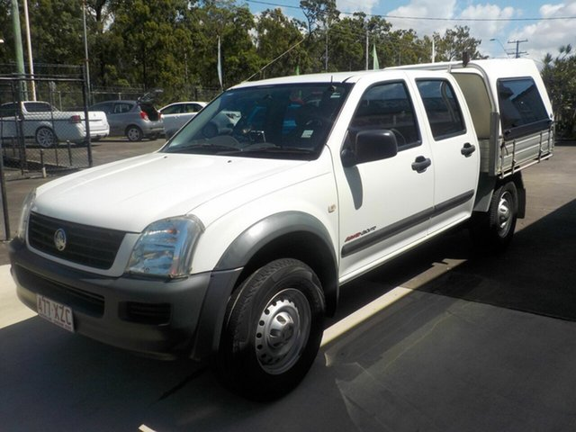 Used Holden Rodeo RA MY06 Upgrade LX (4x4), 2006 Holden Rodeo RA MY06 Upgrade LX (4x4) White 5 Speed Manual Crew Cab Pickup