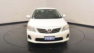 2011 Toyota Corolla ZRE152R MY11 Ascent White 6 Speed Manual Sedan