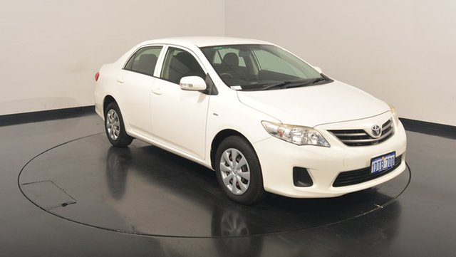 Used Toyota Corolla ZRE152R MY11 Ascent, 2011 Toyota Corolla ZRE152R MY11 Ascent White 6 Speed Manual Sedan