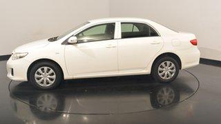 2011 Toyota Corolla ZRE152R MY11 Ascent White 6 Speed Manual Sedan.