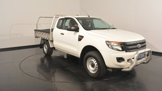 2014 Ford Ranger PX XL Super Cab 4x2 Hi-Rider White 6 Speed Sports Automatic Cab Chassis