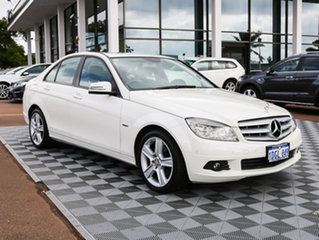 2010 Mercedes-Benz C200 CGI W204 MY10 Classic White 5 Speed Sports Automatic Sedan.